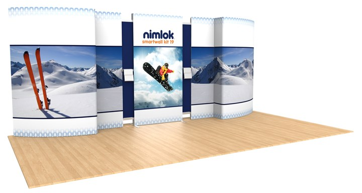 SmartWall 19 20ft Modular Display - portable display