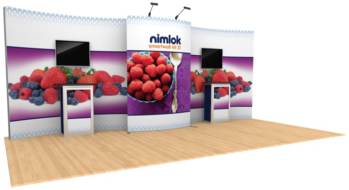 SmartWall 21 20ft Modular Display - portable display