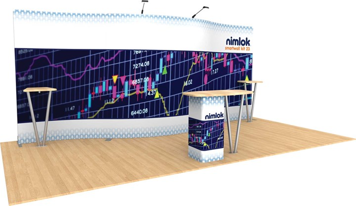 SmartWall 23 20ft Modular Display - portable display
