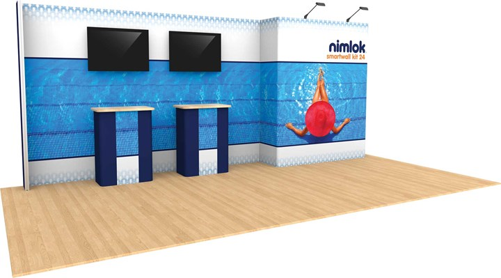 SmartWall 24 20ft Modular Display - portable display