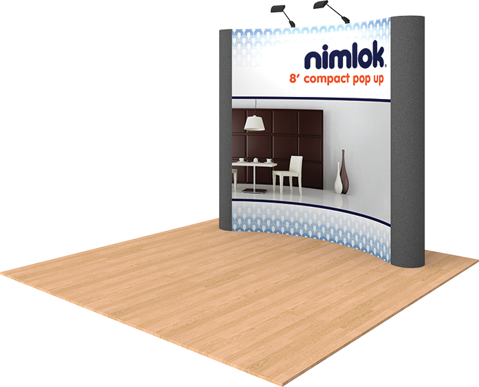 8ft Graphic Pop Up Trade Show Display - portable display
