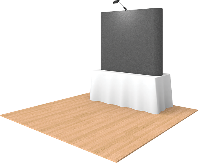 6ft Fabric Tabletop Pop Up Display - portable display