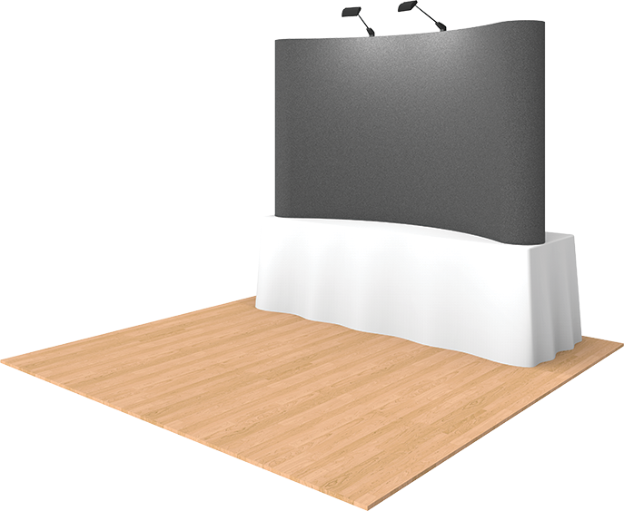 8ft Fabric Tabletop Pop Up Display