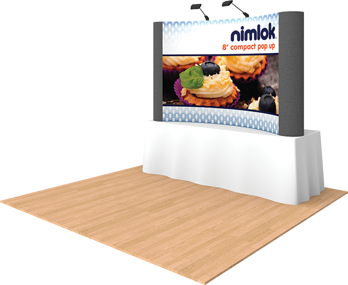 8ft Graphic Tabletop Pop Up Display - portable display
