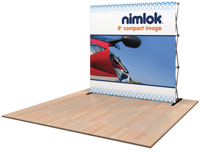 Compact Image 8ft Tension Fabric Display - portable display