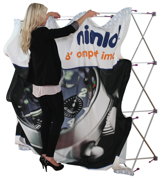Compact Image 5ft Tension Fabric Display - portable display
