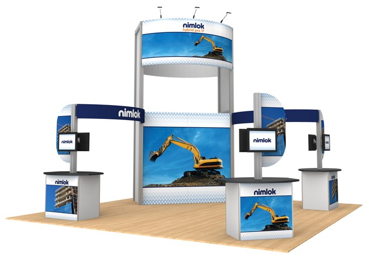 Hybrid Pro Modular 17 20ft Island Display - portable display