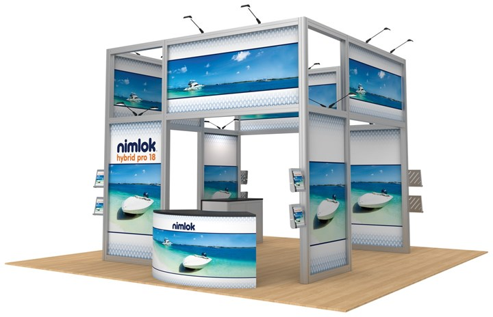 Hybrid Pro Modular 18 20ft Island Display - portable display