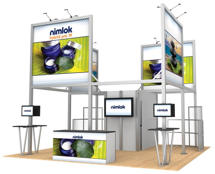 Hybrid Pro Modular 19 20ft Island Display - portable display