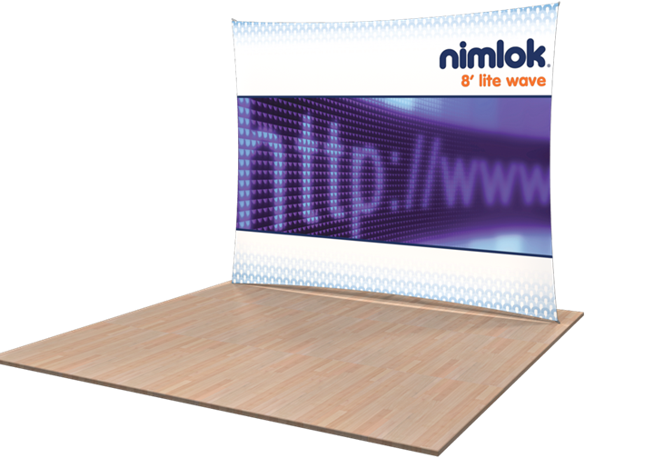 Lite Wave Horizontal Fabric Display - portable display