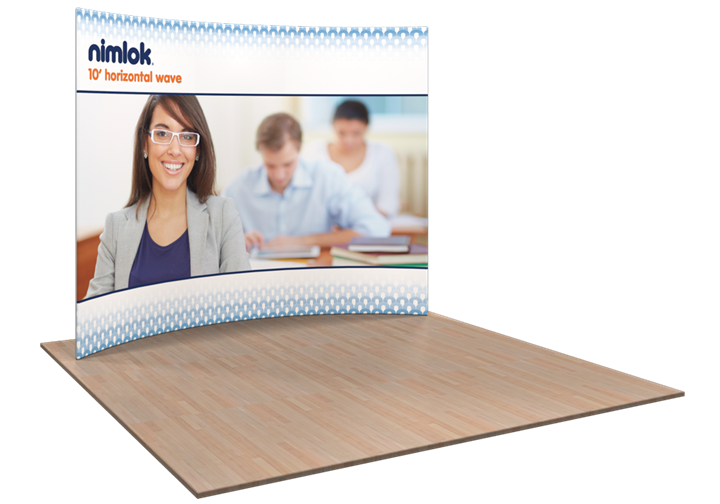 Wave HC1 Horizontal Curve 10ft Fabric Display - portable display