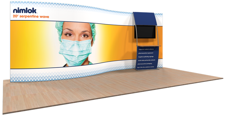 Wave S-02 20ft Fabric Display - portable display
