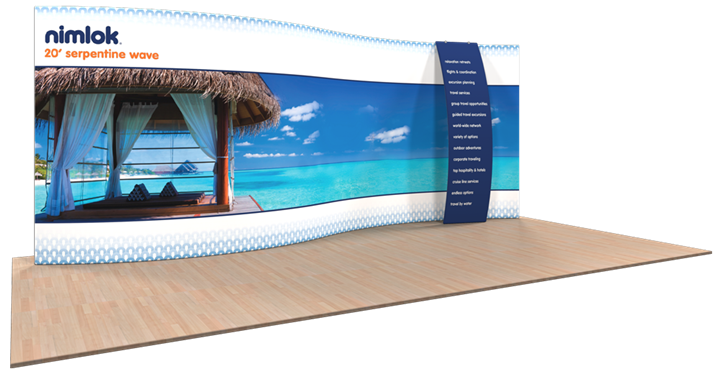 Wave S-06 20ft Fabric Display - portable display