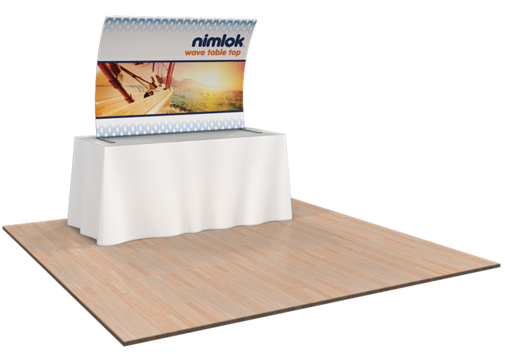 Wave TT2 5ft Tabletop Curved Fabric Display - portable display