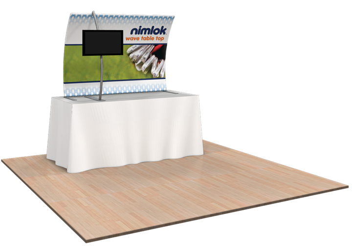 Wave TT3 5ft Tabletop Curved Fabric Display - portable display