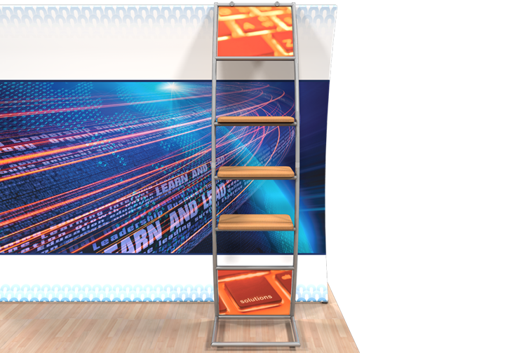 Wave Multi-Shelf Ladder - portable display
