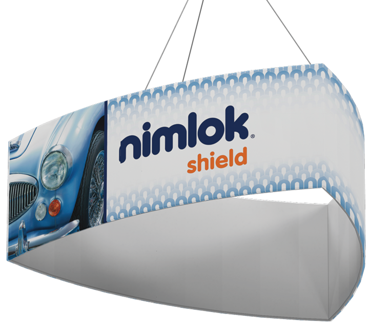 Wave Shield Hanging Structure - portable display