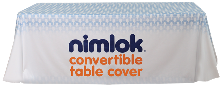 Convertible Printed Table Cover - portable display
