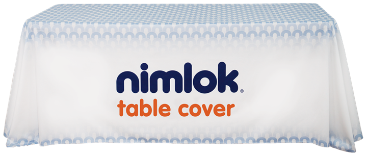 8ft Printed Table Cover - portable display