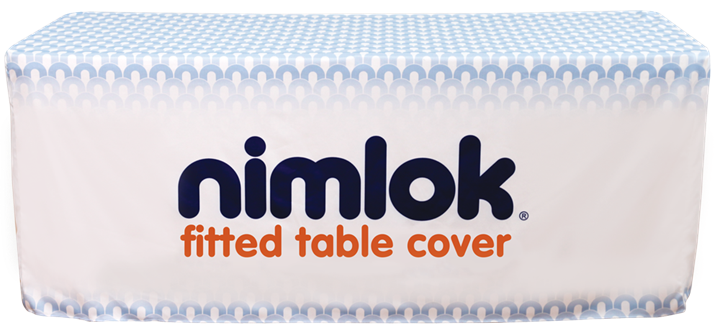 8ft Fitted Printed Table Cover - portable display