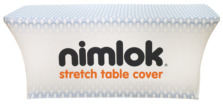 8ft Stretch Printed Table Cover - portable display