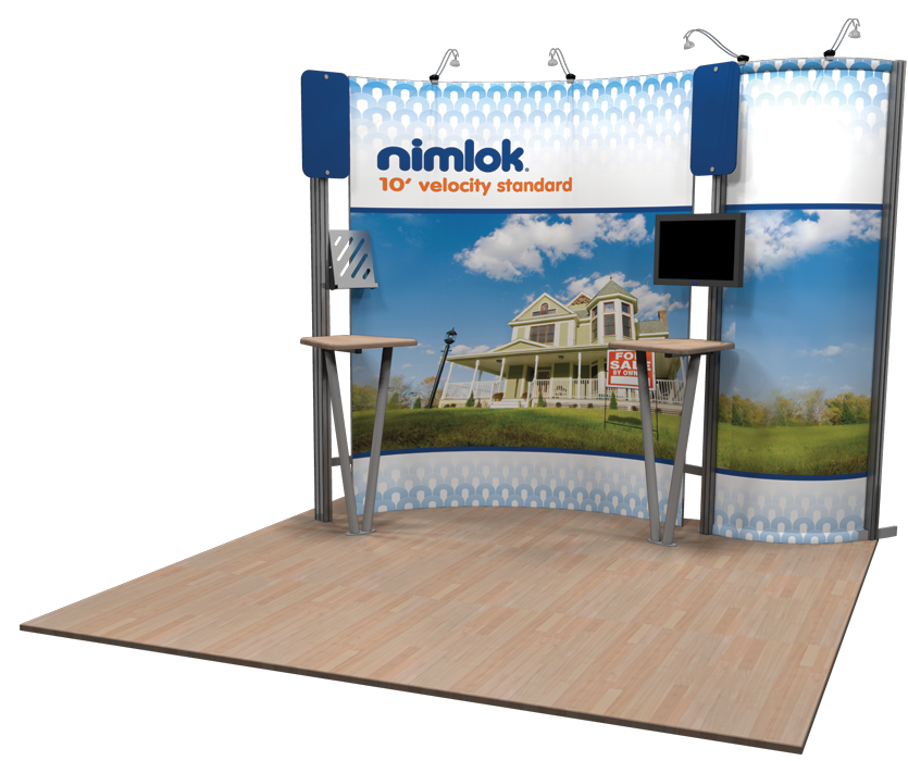 Portable trade show displays booths nimlok for Craft supply trade shows